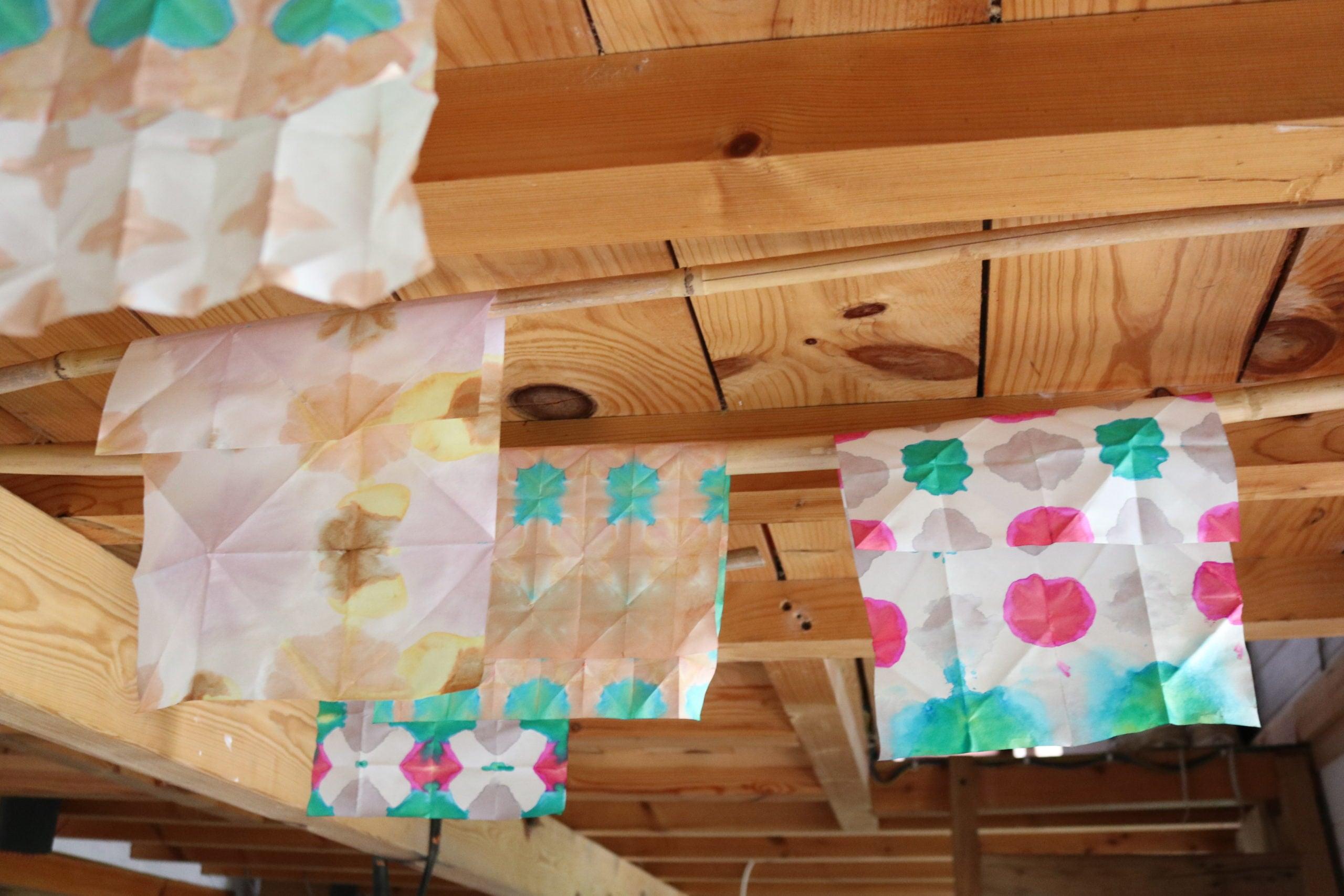 Shibori: Folded Paper Dye